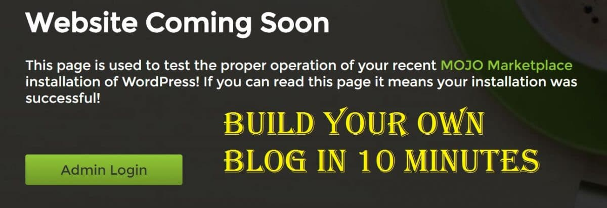 build a blog in 10 minutes