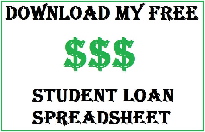 student loan spreadsheet