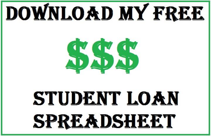student loan excel spreadsheet